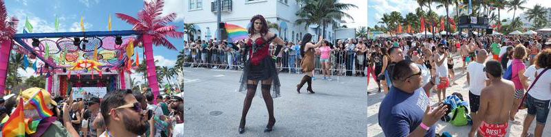 ocean drive south beach miami gay parade